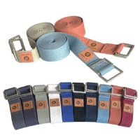 100% cotton yoga strap 8ft length D-ring